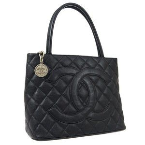 CHANEL Medallion Quilted CC Hand Tote Bag Purse